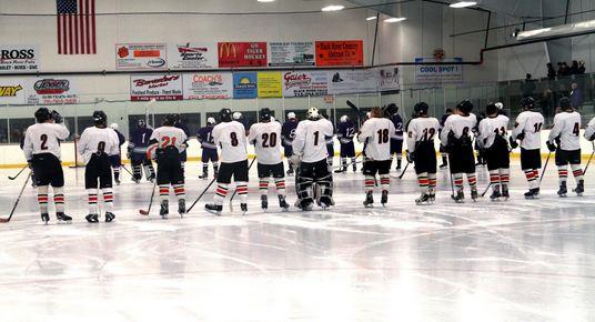 Almost halfway: boys hockey season