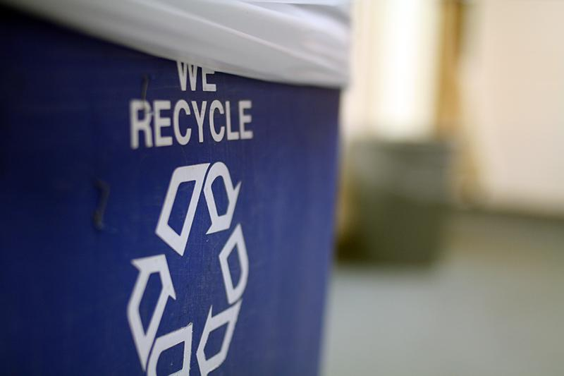 RECYCLING PROGRAM PULLED OUT OF THE BIN