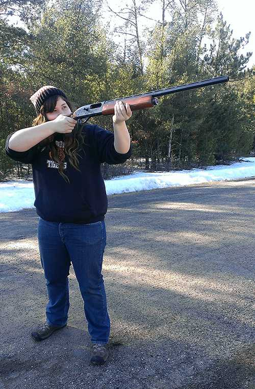 New Tiger Shooter, Junior, Mackenzie Quackenbush, attends her first practice shoot of the season.