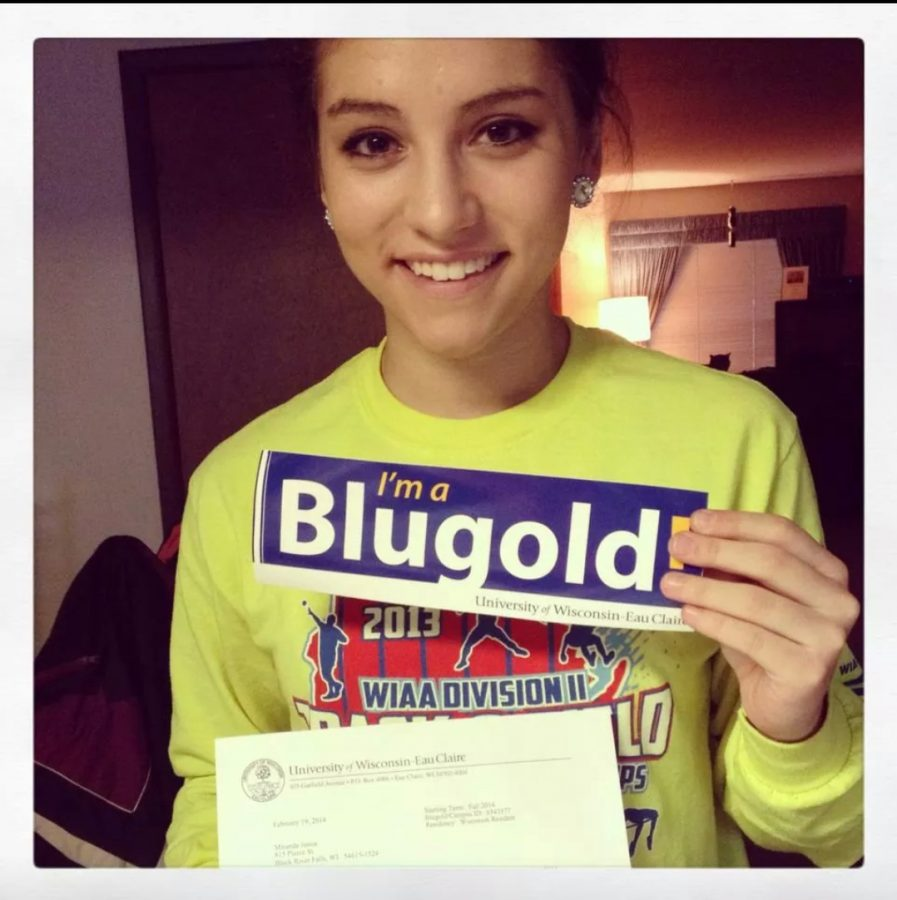 Senior Miranda Jessie was accepted at the UW- Eau Claire.