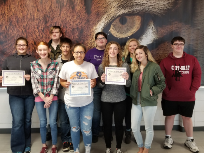 October students of the month honored.